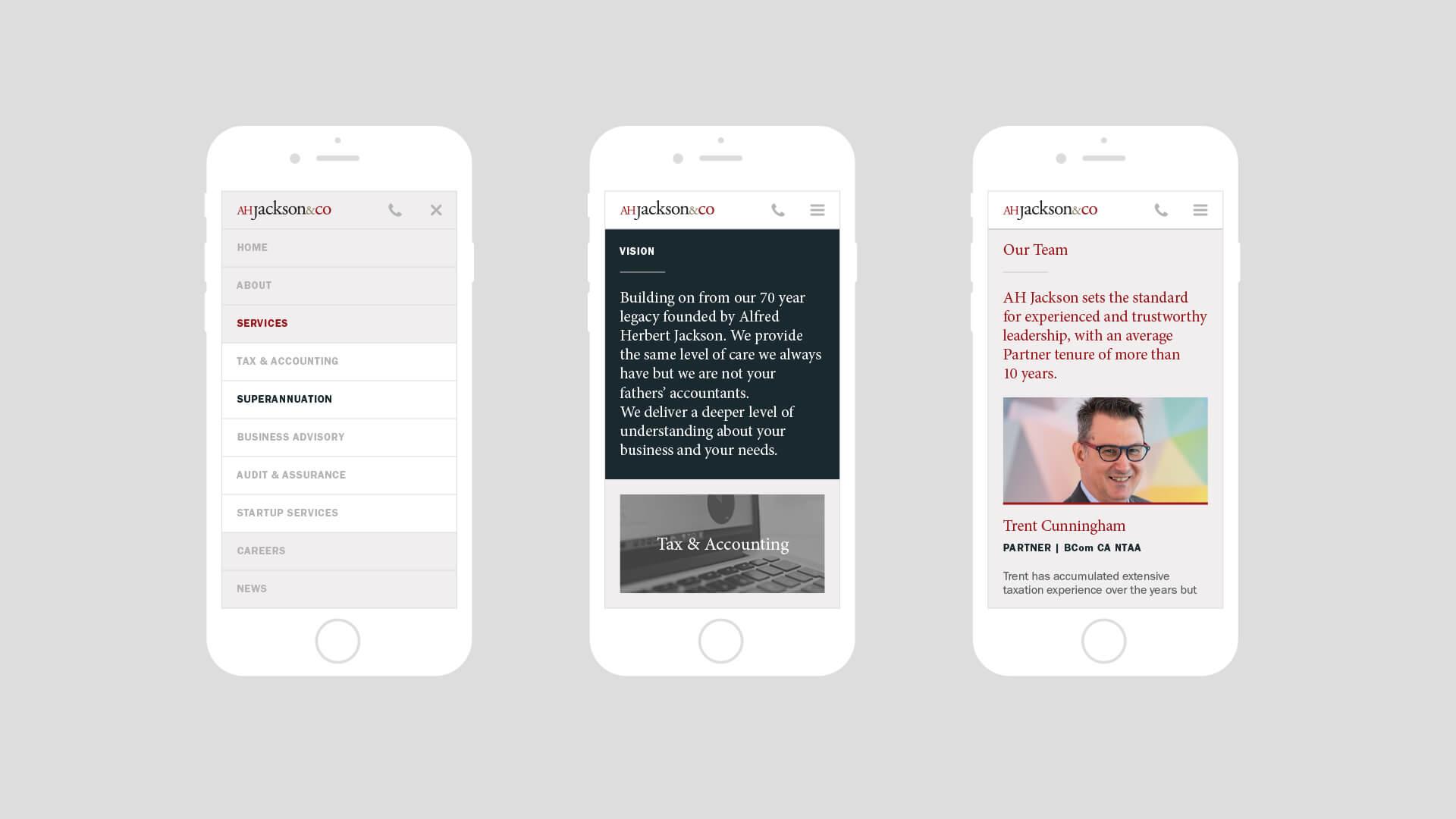AH Jackson Website Design – Responsive Mobile