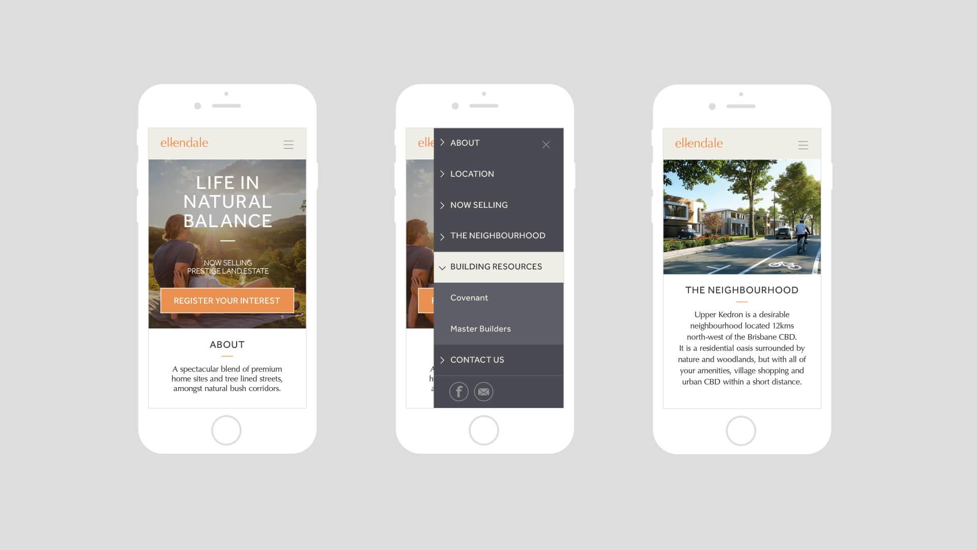 Ellendale Website Responsive Mobile